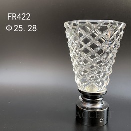 FR422,crystal curtain rod finial