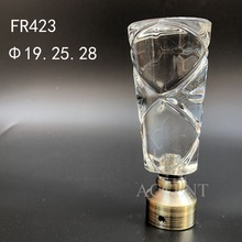 FR423,crystal curtain rod finial