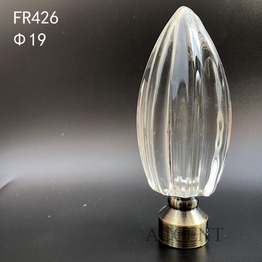 FR426,crystal curtain rod finial