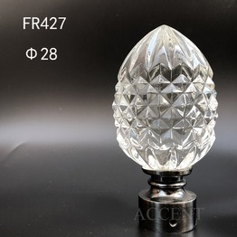 FR427,crystal curtain rod finial