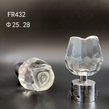 FR432,crystal curtain rod finial