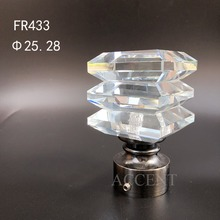 FR433,crystal curtain rod finial