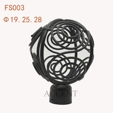 FS003,Iron curtain rod finial