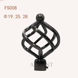 FS008,Iron curtain rod finial