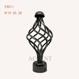 FS011,Iron curtain rod finial