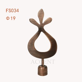 FS034,Iron curtain rod finial