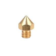 China supplier Customized High performance 3D printer parts accessories Brass Extruder Nozzle Print Heads brass printer nozzle