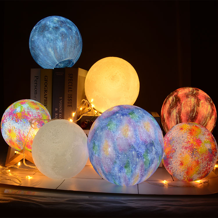 Creative Home Bedroom Decorations Gifts Yidimu 3D Printing 3D Moon Lights For Girls