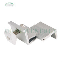 Adjustable aluminum solar end clamp