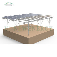 Aluminum structure solar farm mounting system