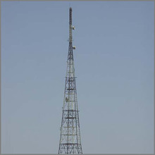 Galvanized Monopole Tower Microwave Telecommunication Tower