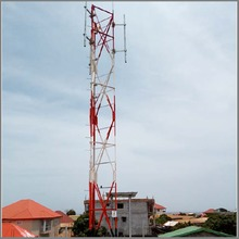 Telecommunication Rooftop Lattice Tubular Tower