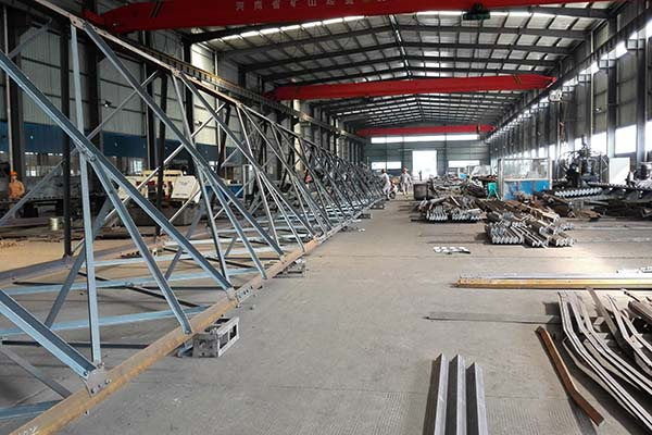 Workshop of our angular galvanized steel communication tower