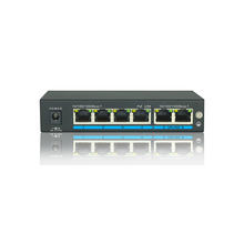 6 Ports Switch With 4 Port PoE 1000Mbit 15.4W POE Switch
