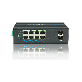 Gigabit Industrial 8 Port POE Switch Gigabit 2 Fiber Port