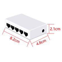 PEOVG Mini 5 ports 100Mbps Ethernet Network desktop switch