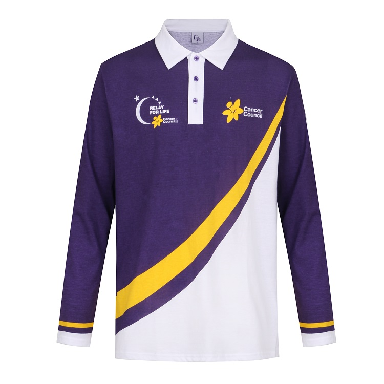 jersey long sleeve polo