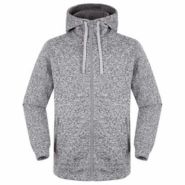 polyester fleece hooded jacket