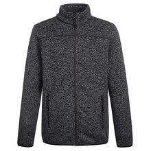 fleece melange jacket