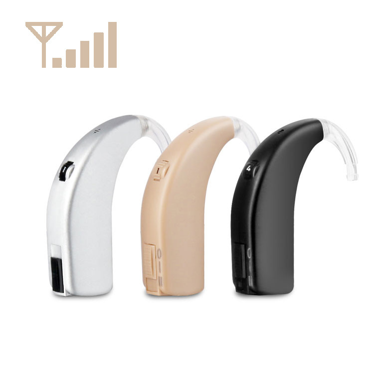 Fashionable Durable Analog Rechargeable Swan BTE Hearing Aid
