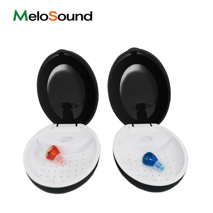 Customized Hearing Aid Smart Dry Case With UV Ultra Violet Sterilization And Dry Function