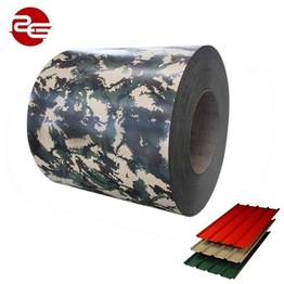 Building materials camouflage pattern prepainted galvanized steel coil PPGI color coated steel coil