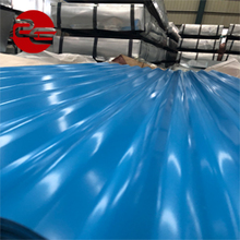 China factory price blue thick painted corrugated prepainted steel roofing sheet with ce certificate