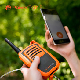 Long range radio communication device that pairs with your smartphone over bluetooth