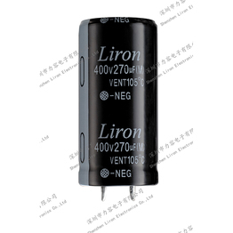 Liron lkg high operating temperature snap in aluminum electrolytic capacitor