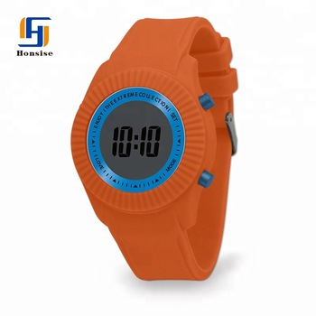 Multicolor Band Lcd Watch For Ladies