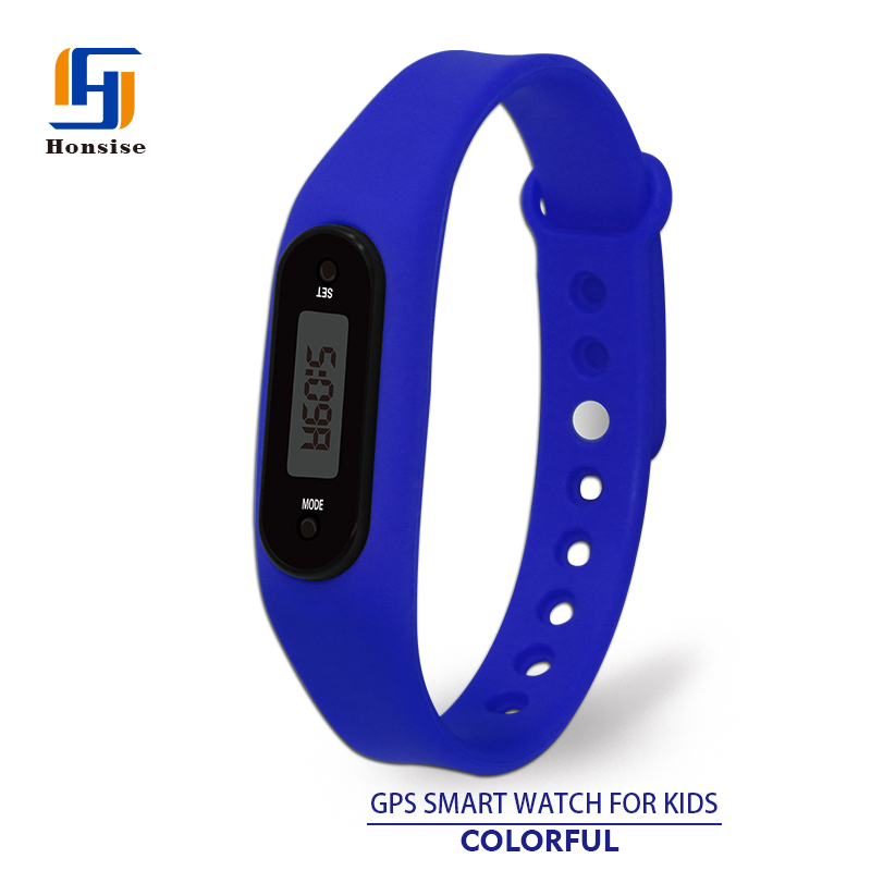Silicone Wristband Multifunctional Promotional Pedometer Running Watch
