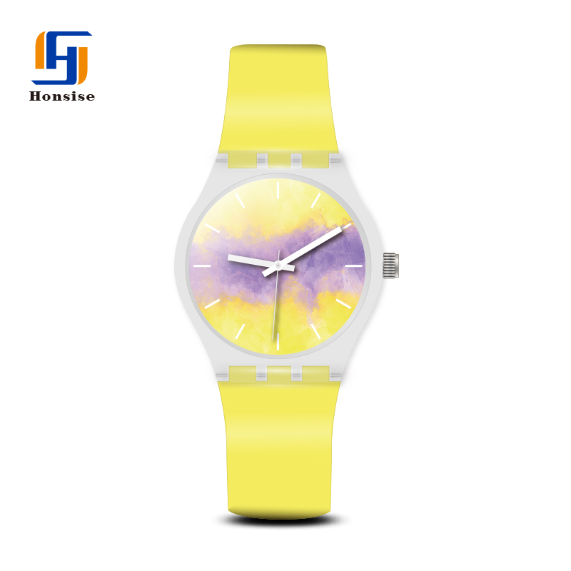 Wholesale Plastic Case Japan Movt Silicone Sports Watch Made In China