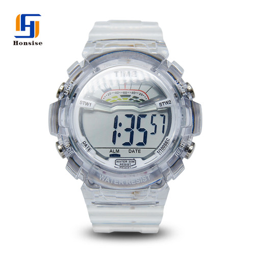 Customize Fashion Digital Sport Stainless Steel Back Multifunction Watches