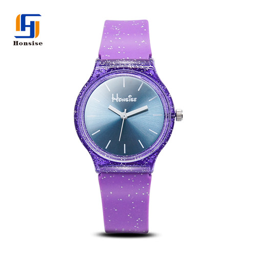 Soft Glitter Strap Custom Logo Silicone Watch Bands Silicone Children's Watch