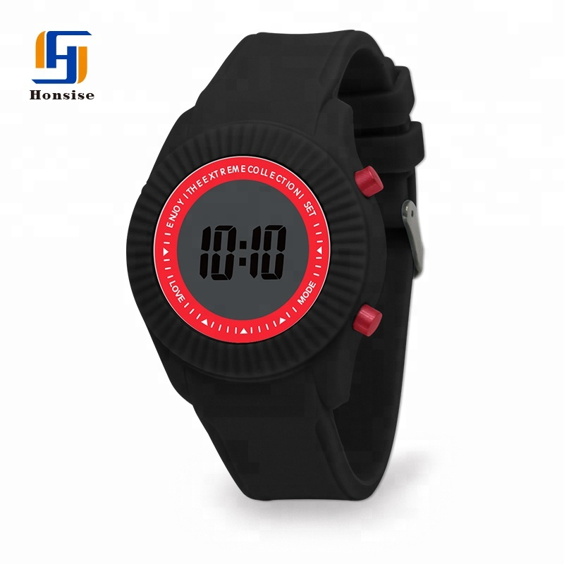 Multicolor Silicone LCD Watch For Child Kids
