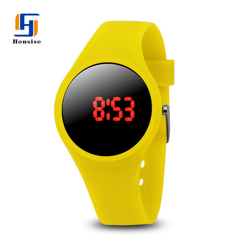 Custom logo silicone rubber watch band silicone children's watch