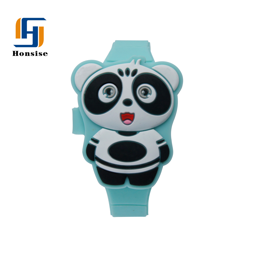 Silicone Pink Panda Lovely LED Digital 3D Kids Watch