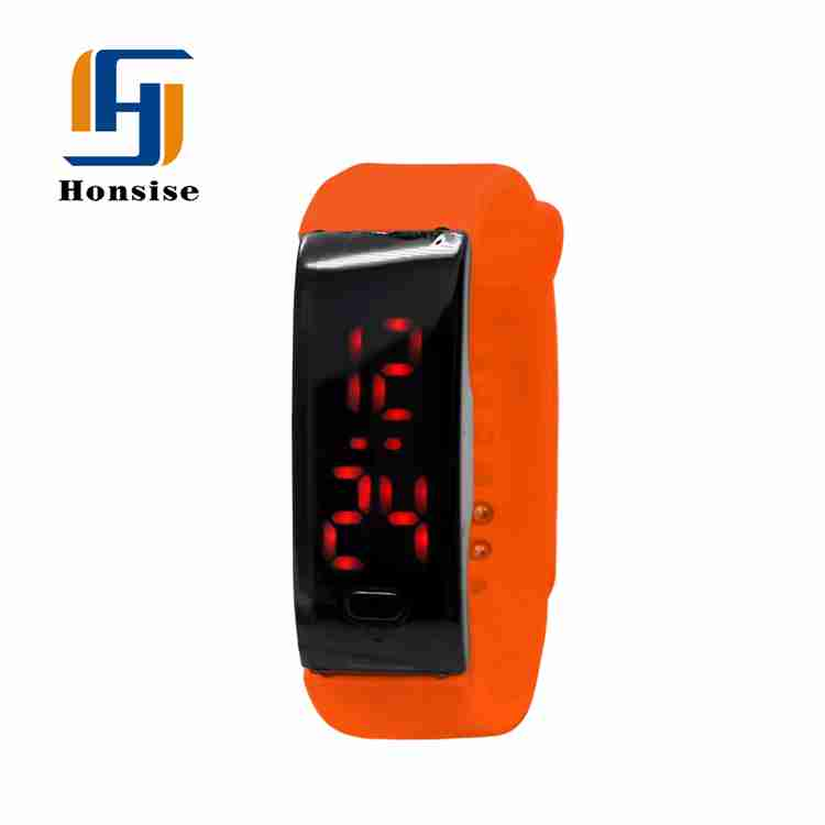 China Cheapest Colorful Strap Stylish Plastic Digital Led Wrist Watch