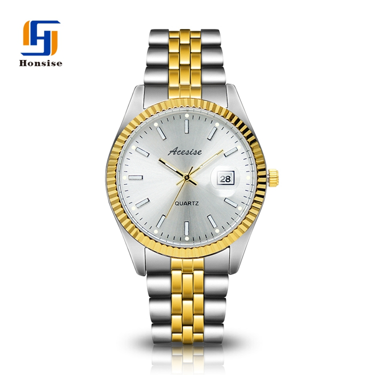 Calendar Quartz Watch Relojes Stainless Steel Men Watch