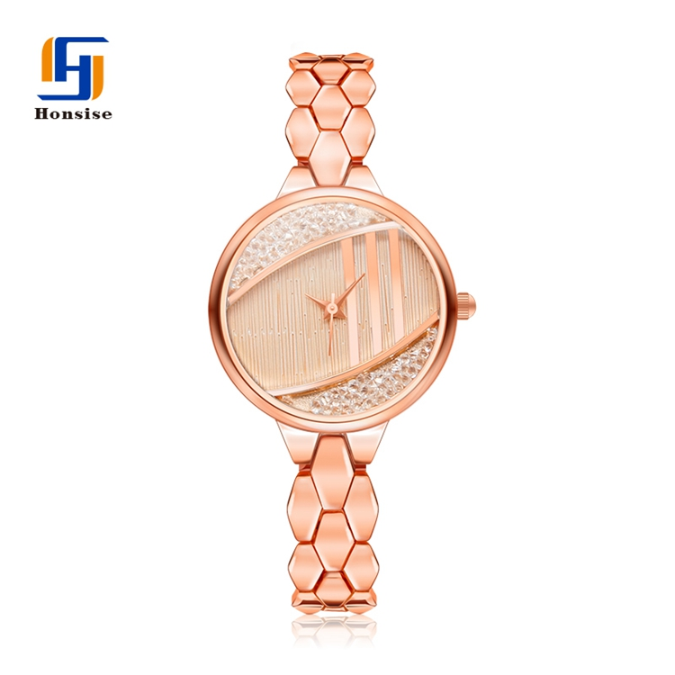 Alloy Diamond Quartz Designer Ladies Chain Watches Stylish