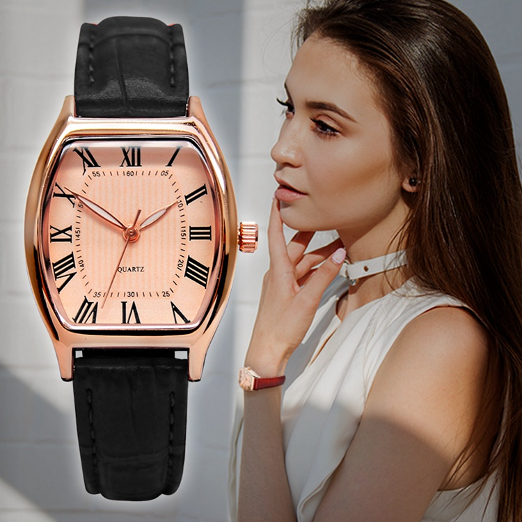 Latest PU Leather Watch Band Charm Lady Hand Watches Design For Ladies