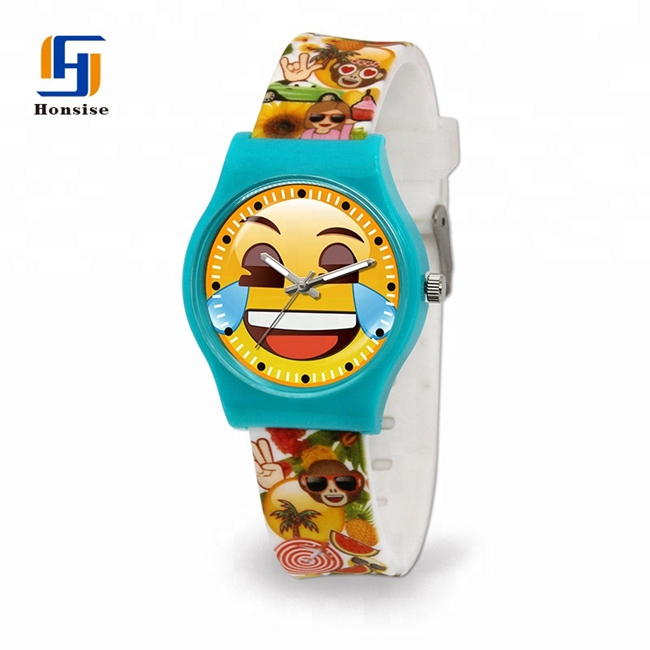 Silicone Custom Plastic Kid Children Branded Watch