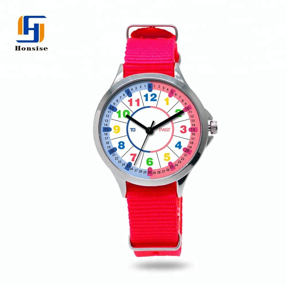 Colorful Nylon Strap Watch For Children