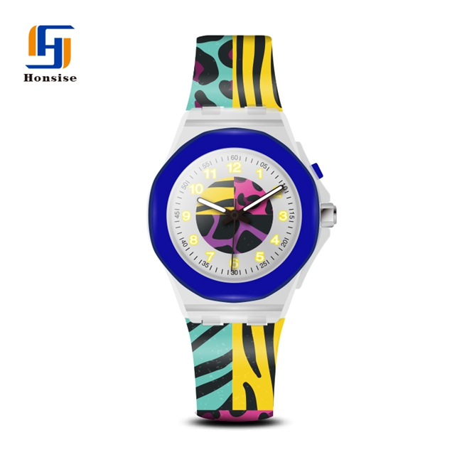 Silicone Case Water Resistant Japan Movt Quartz Watch Stainless Steel Back Light Custom Watch