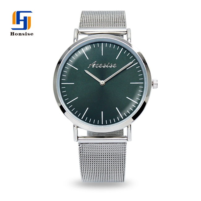 Custom Logo Mesh Strap Luxury Thin Ladies Watches