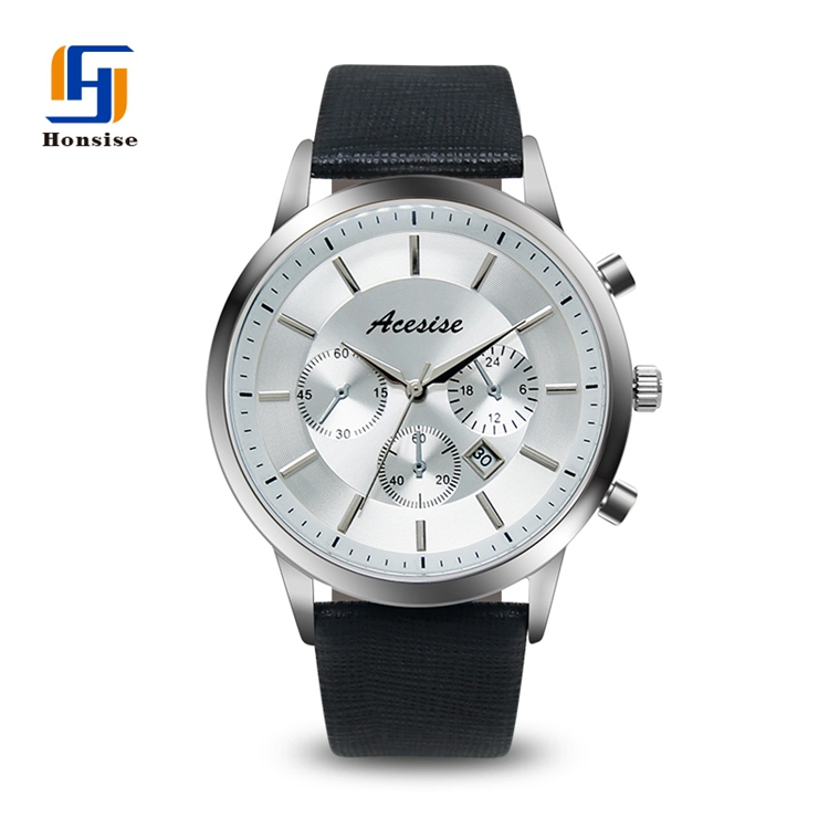 New design Men  Silver Alloy watch case  stainless steel buckle  high quality watch