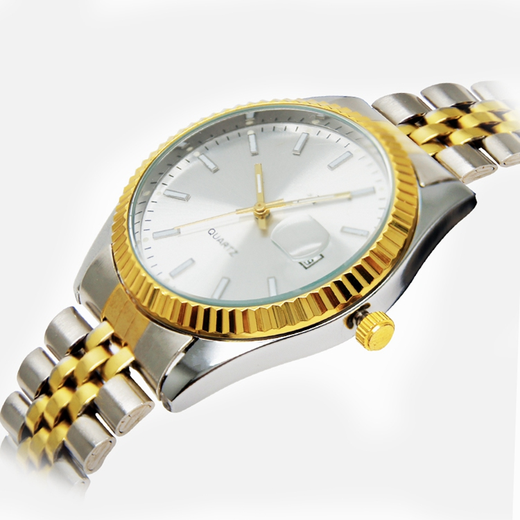 Japan Movt Gold Hands Wristwatches Wrist Mens Watch Stainless Steel Quartz Luxury Waterproof Case Fashion