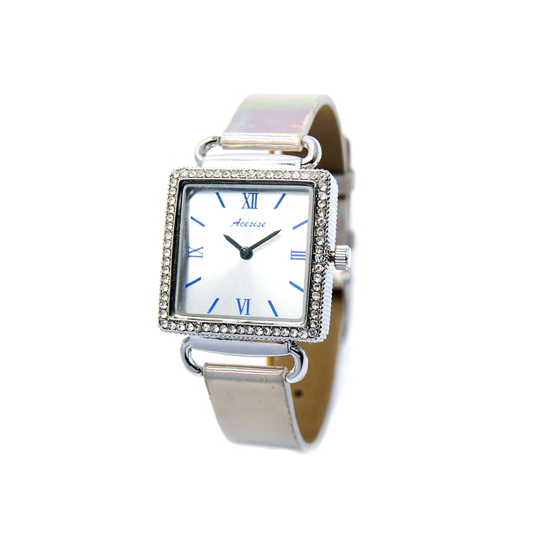Alloy Case Pvc Watch Strap Original Japan Movement Royal Diamond Watches For Women