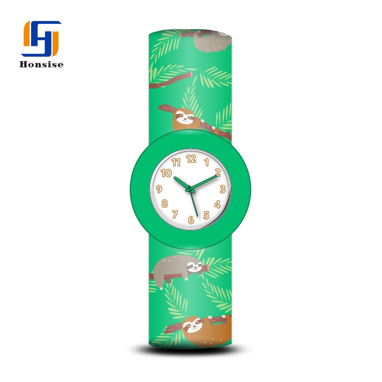 Factory Price New Arrival Silicone Soft Cartoon Kids Slap Band Watches