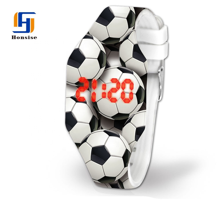 NEW Fashion Pattern Printing Silicone LED Watch For Kid